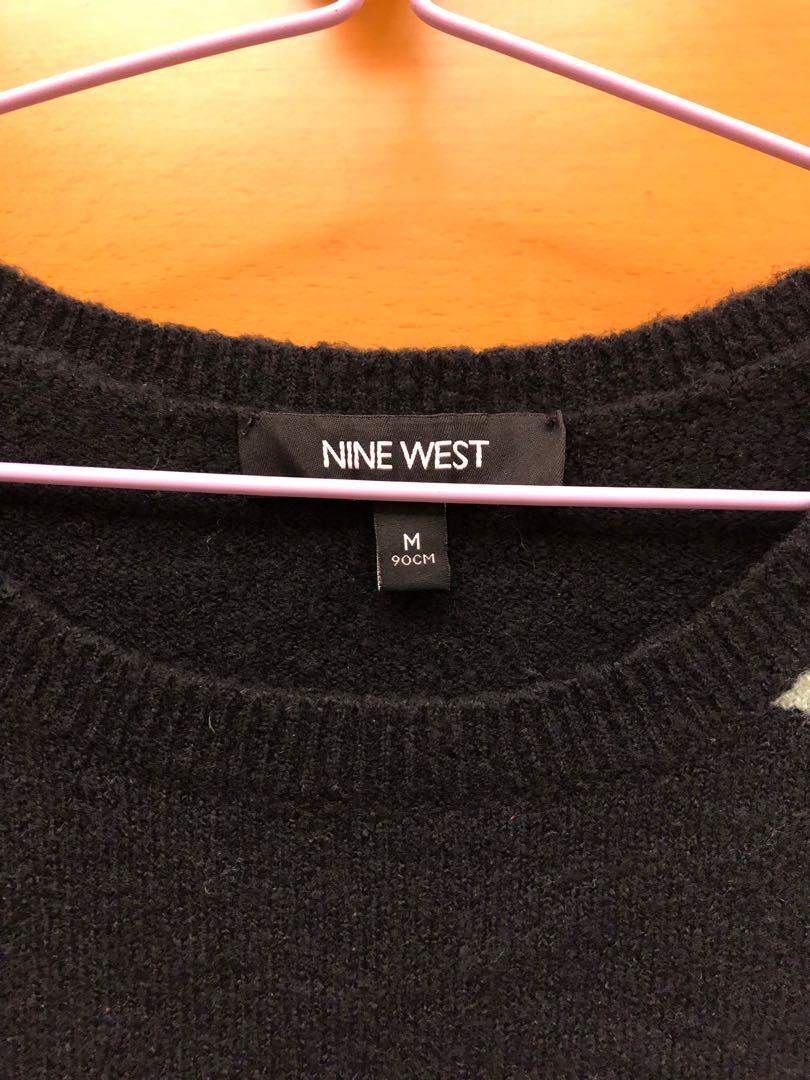 Nine west 長袖冷衫 M size slim fit