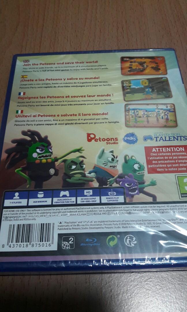 PS4 全新 英文版 PETOONS PARTY