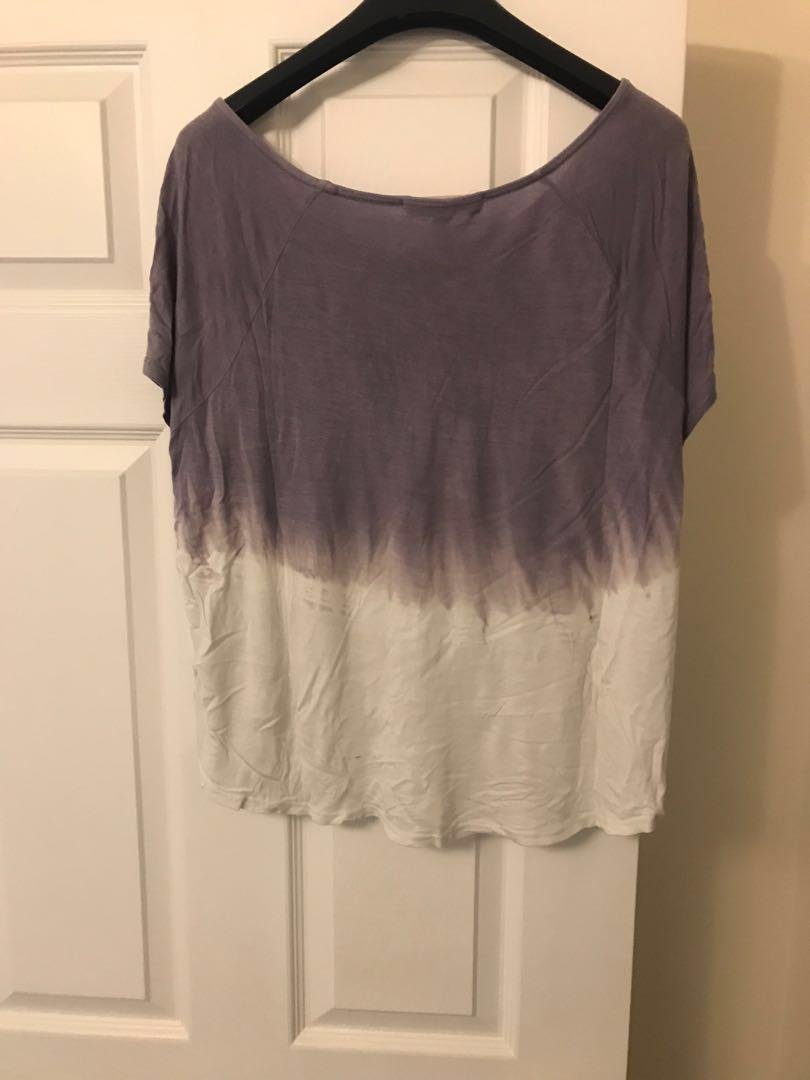 Purple and White Ombré T-shirt from Urban Outfitters