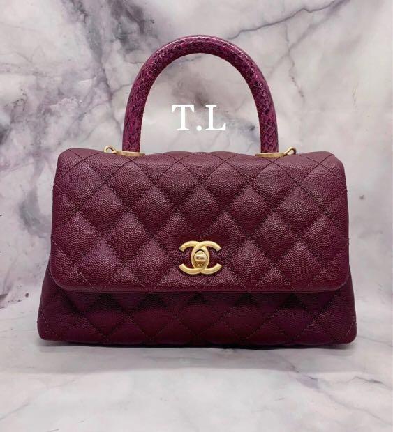 512071d25c47 Rare color!! Unused Coco Handle Chanel with Exotic Lizard Handle ...