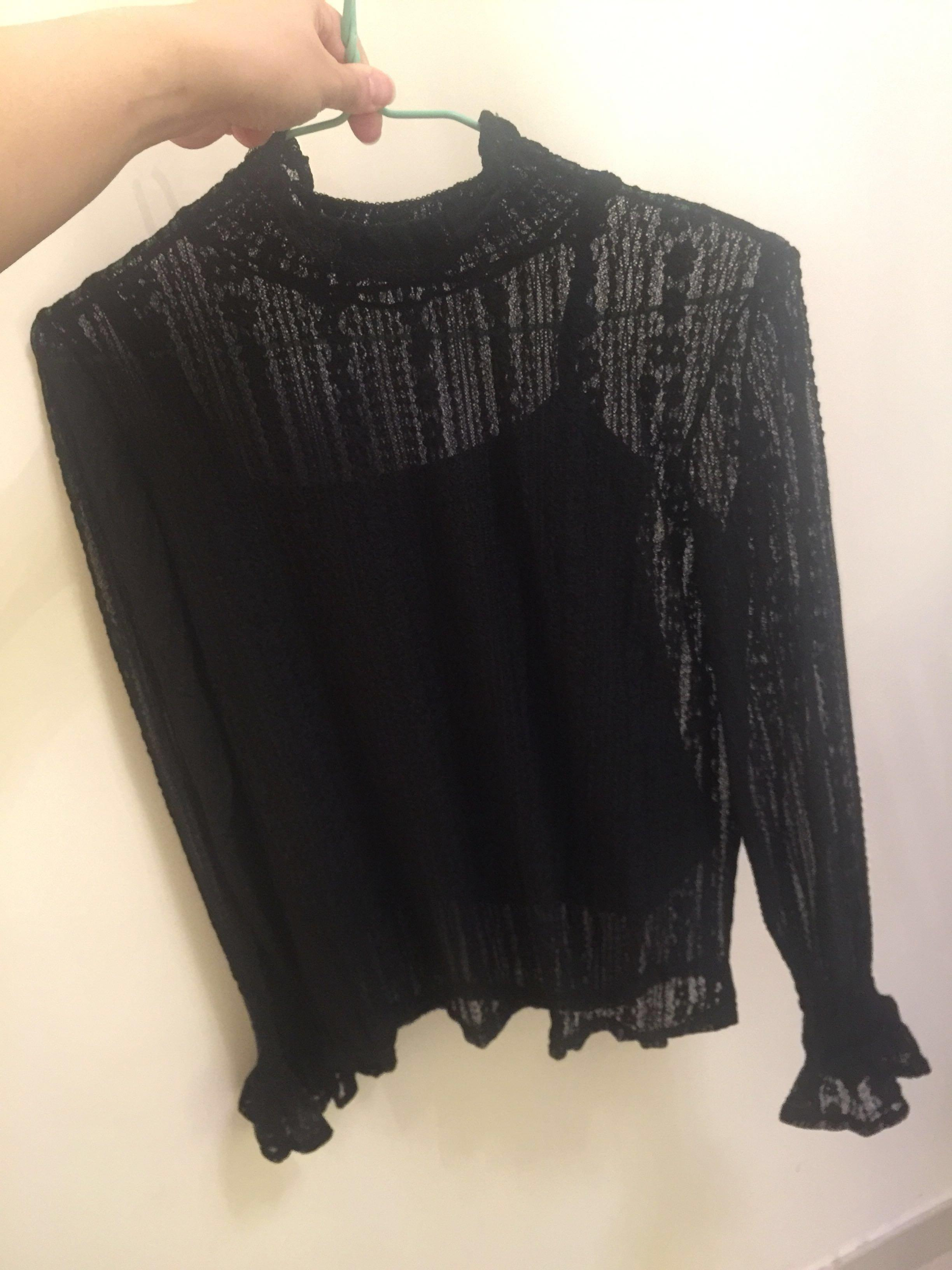 Sexy Black Lace Top (for wedding party, dinner)