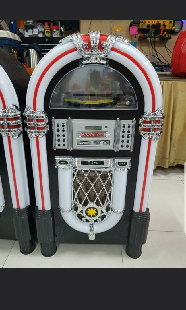 SIGNIFY Jukebox with Turntable (with Bluetooth, CD player, FM, USB input &  SD card) Model: EA0863 ---> From Australia