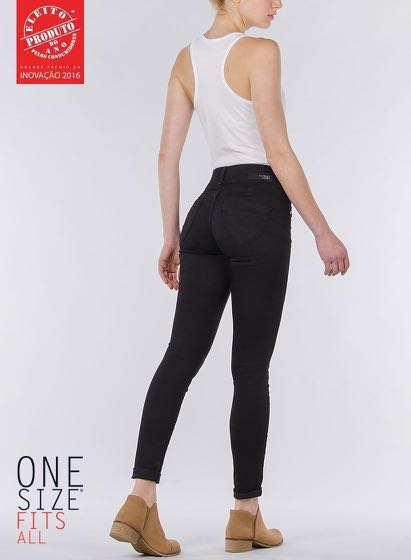 27e856168e Tiffosi One Size Fits All Jeans in Black