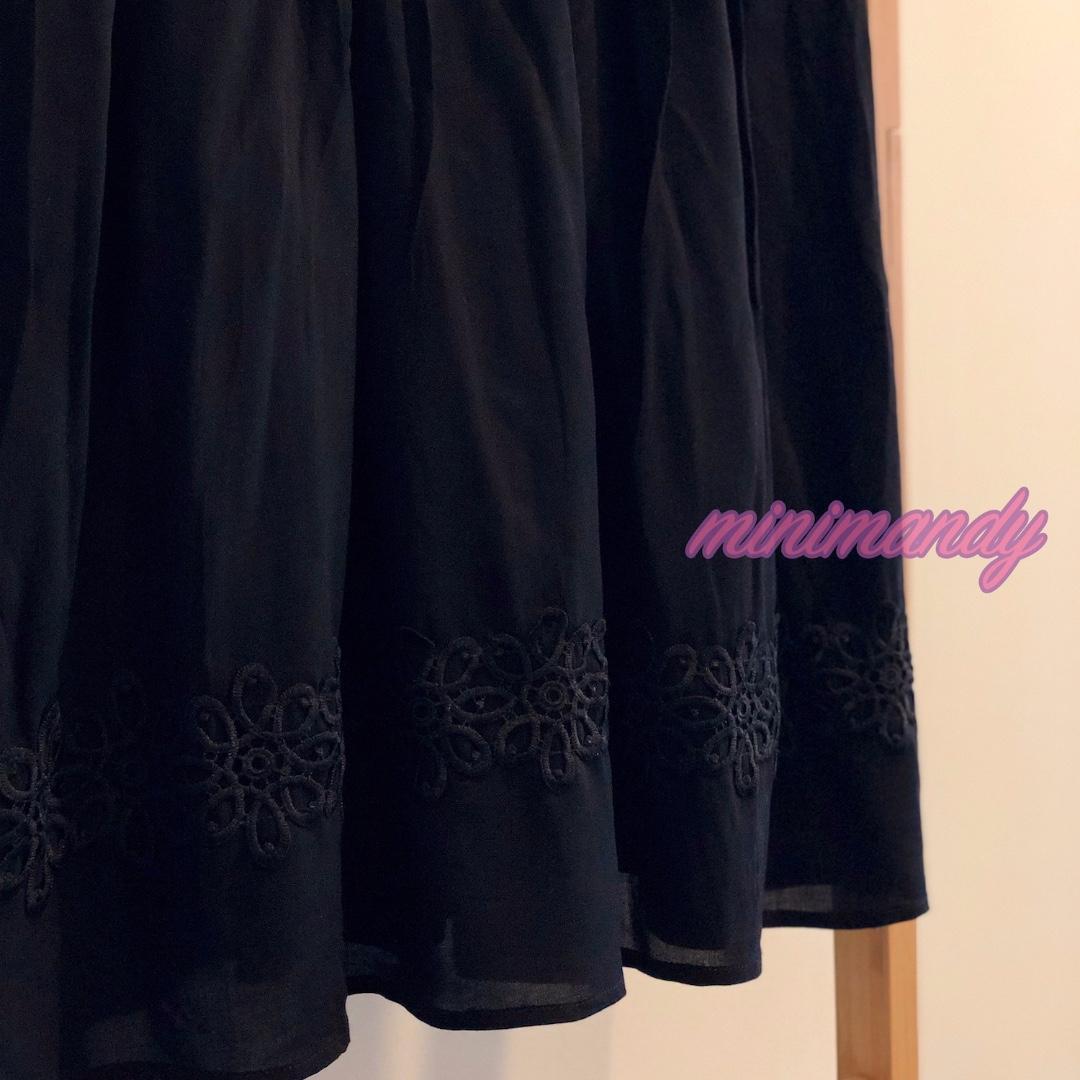 TOPSHOP Embroidered floral lace V neck black little dress skater midi flower