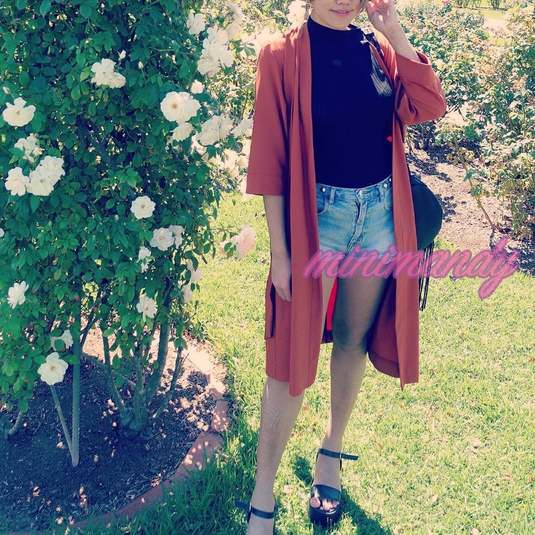 Topshop kimono coat orange brown long blouse jacket size 36 #SundayMarket