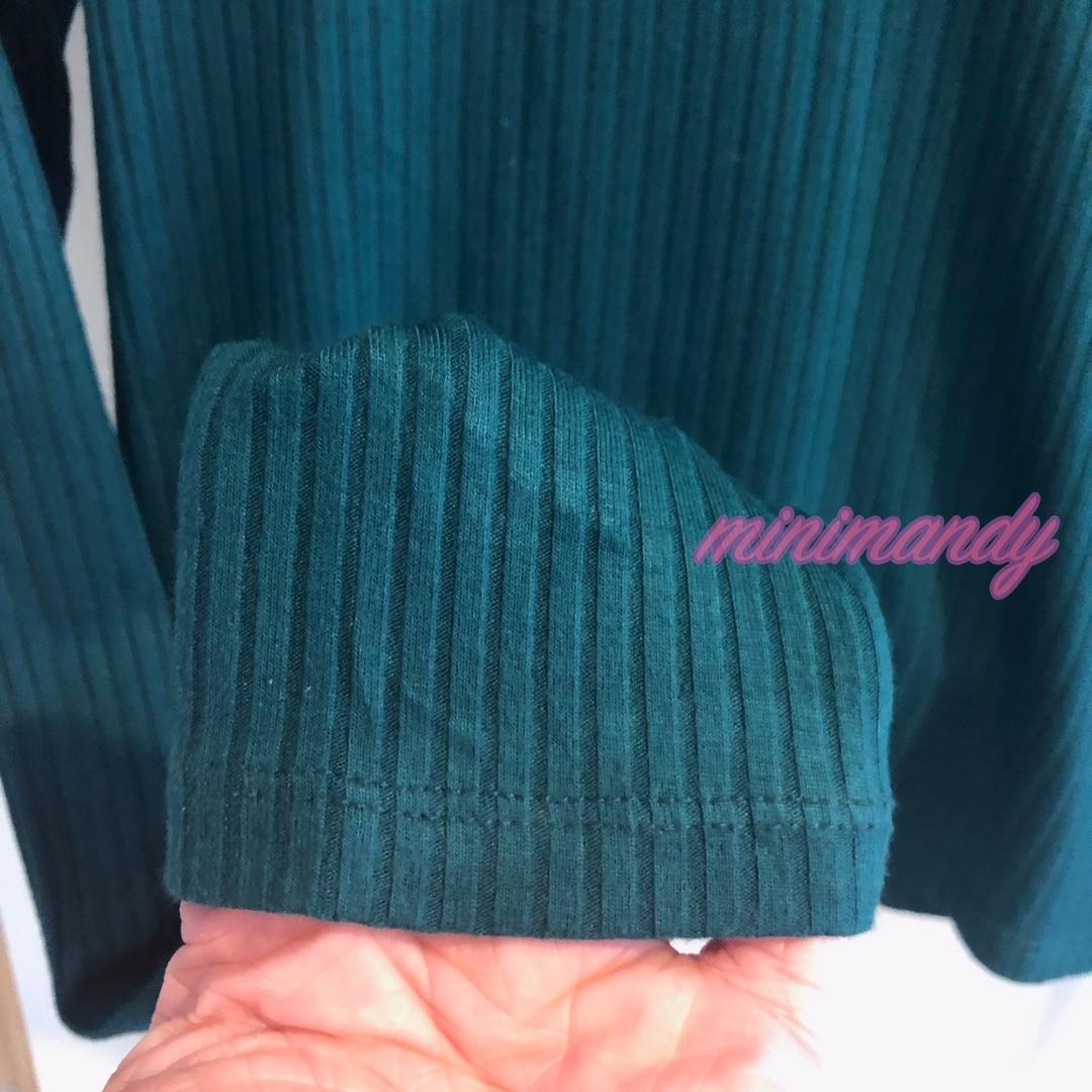 TOPSHOP vintage green knitted crop top cable knit scoop neck choker top rib tee size 12