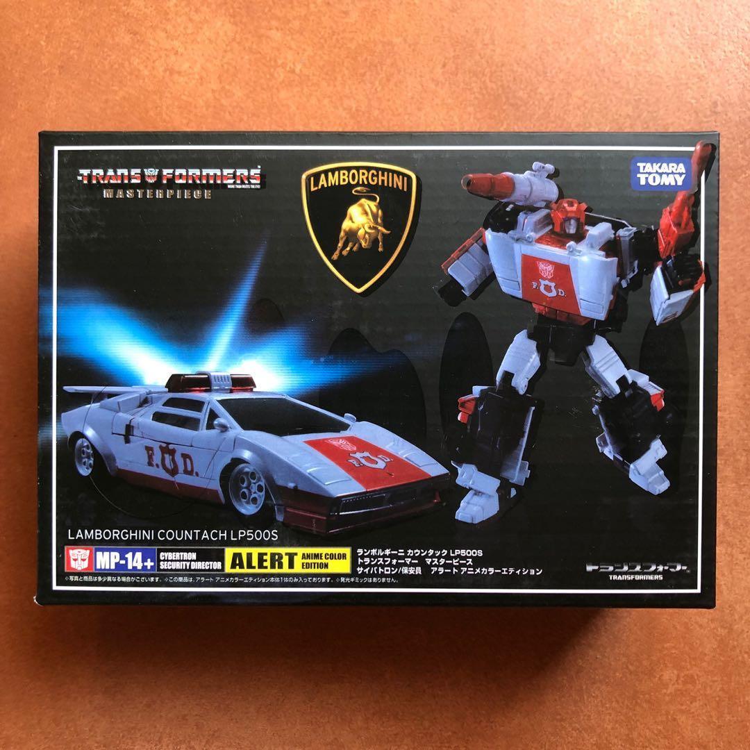 Alert Lamborghini Robot Car Figurines Toy Takara Transformers Masterpiece MP-14