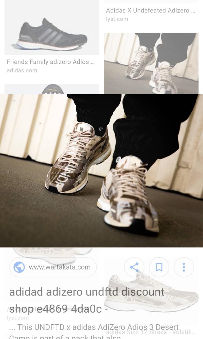 e3a6d846788aa Undefeated X Adidas Adizero Adios 3 (Sand Tan Camo)