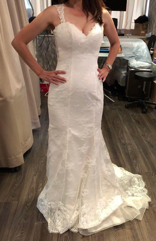 Wedding gown for photoshoot