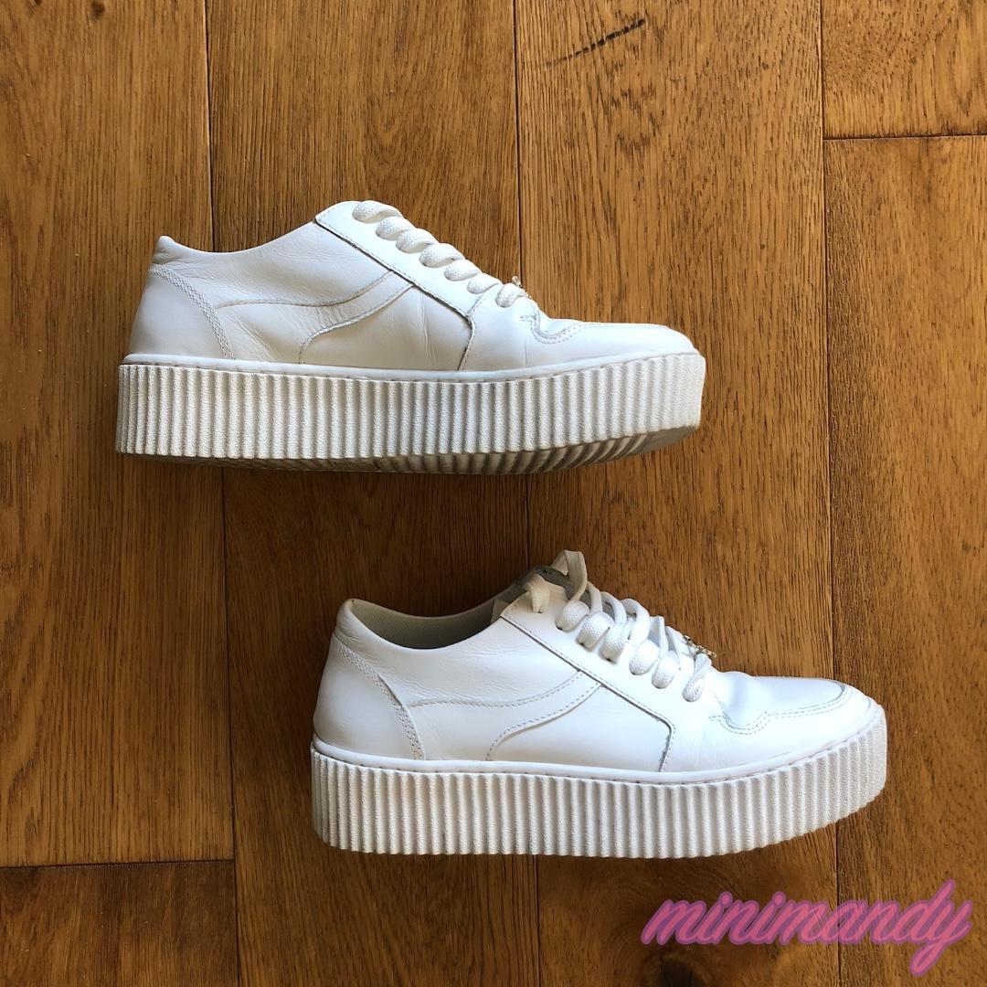 Windsor Smith ORACLE WHITE LEATHER sneakers shoes platform