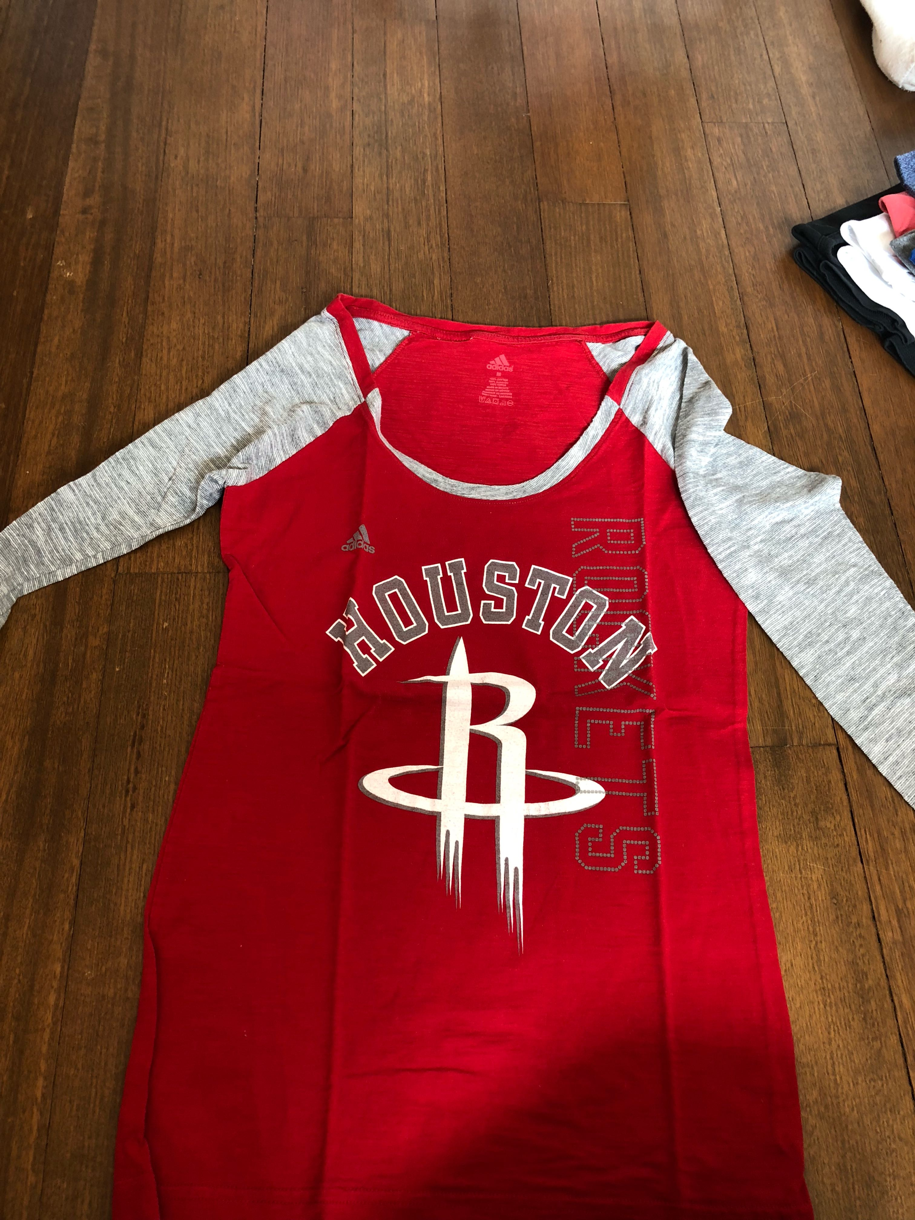 check out 81e85 2964a Women's Adidas Long Sleeve T-Shirt for Houston Rockets