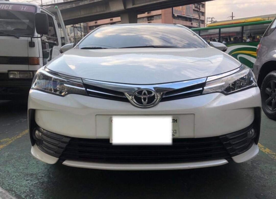 Your Dream Car 2017 Toyota Altis 1.6 V Gas AT (New Look)   only P18T monthly at 30% DP
