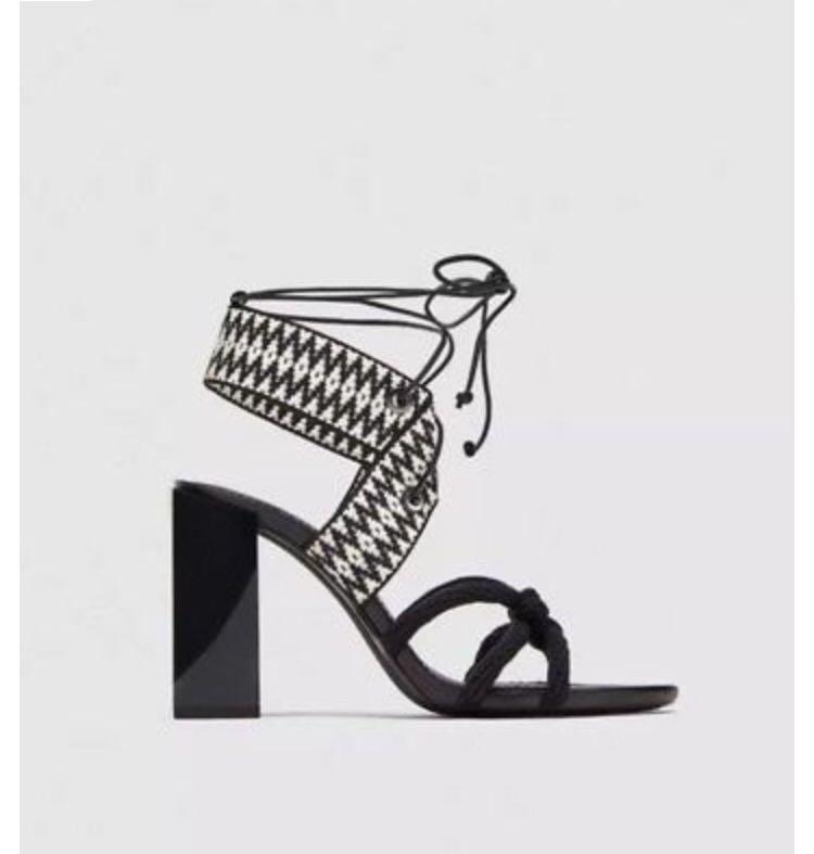 Zara Tribal Block Heel