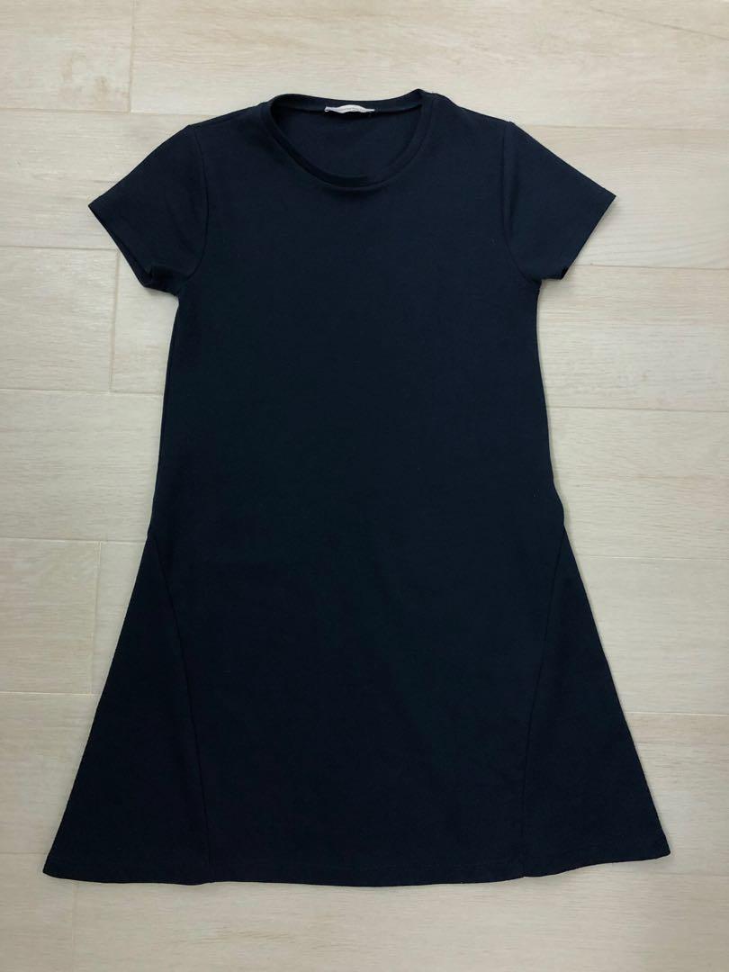 ec60efdd49 ZARA T-shirt Dress (navy blue)