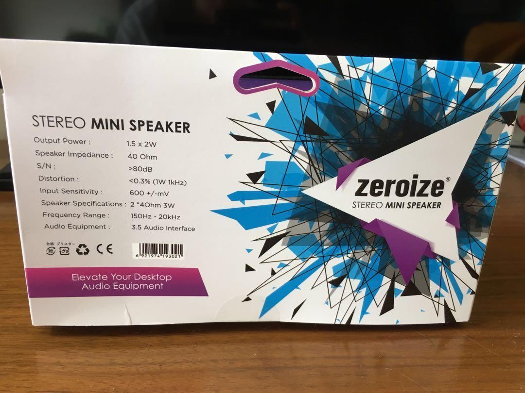 Zeroize Stereo Mini Speaker 電腦喇叭