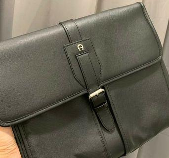 AIGNER Black Messenger Bags