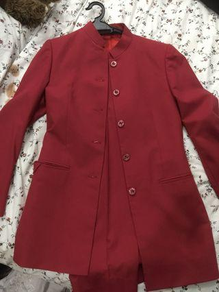 Red Blazer Set