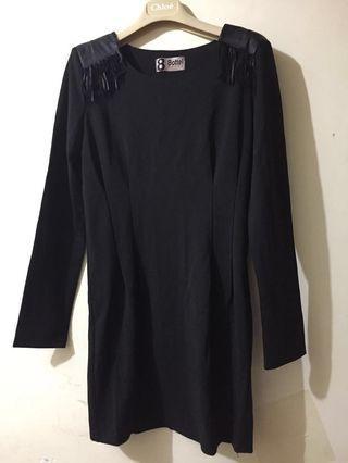 韓國黑色型格連身長裙