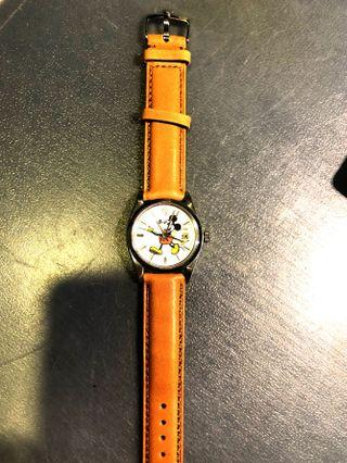 🚚 Rolex Precision 6694 Mickey Mouse dial & leather strap