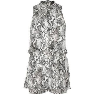 River island Tiered jumpsuit snake print