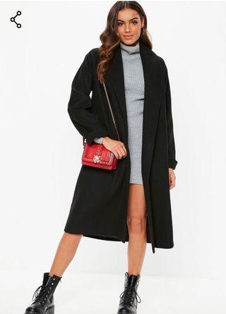 Missguided Shawl Collar Coat