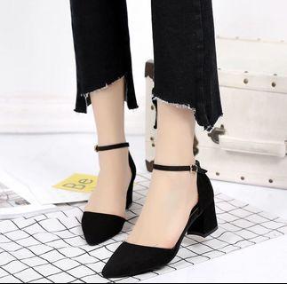 黑色高跟鞋 5 cm size39