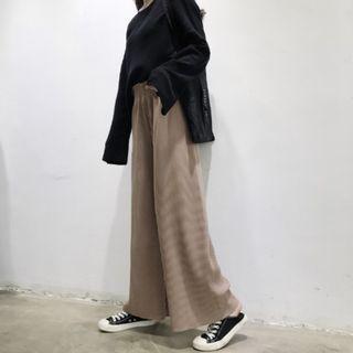顯瘦抒棉寬褲