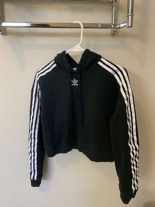 Black Adidas Cropped Sweater