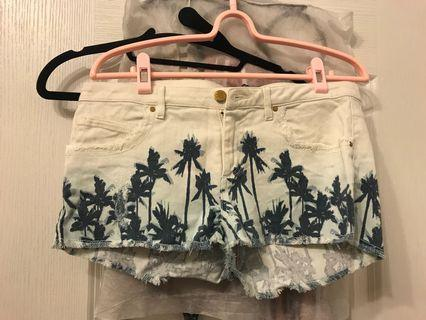 🚚 Zara椰子樹渡假風短褲