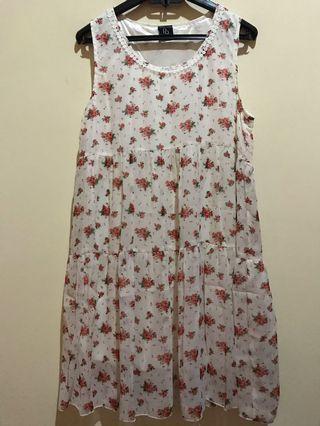 Flower Dress cantik premium import