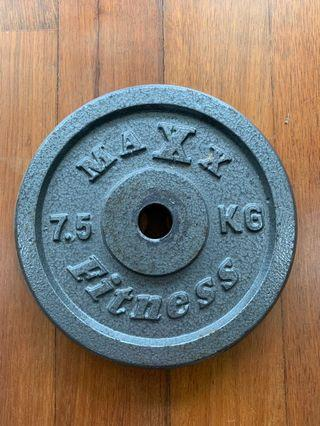 7.5 KG Dumbbell / Barbell Weights for Sale - 4 Pieces Left