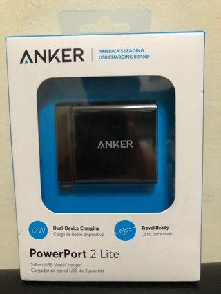 Anker PowerPort 2 Lite Wall Charger w/ PowerIQ