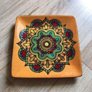 🚚 復古手繪陶瓷盤 西餐盤 盤子 菜盤居家裝飾