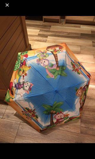 正版 disney 雨傘 Stella lou duffy 熊 shellie may gelatoni 畫家貓 cookie 購自香港迪士尼樂園 HKDisneyland 公仔傘 umbrella 附雨袋雨套 rain cover