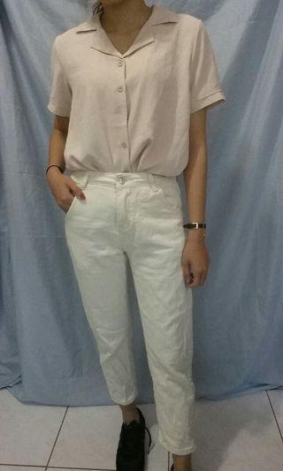 🚚 杏色知性襯衫#半價衣服拍賣會