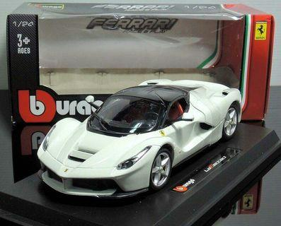 Bburago 1:24 Ferrari LaFerrari White Diecast Model Sports Racing Car Vehicle Toy