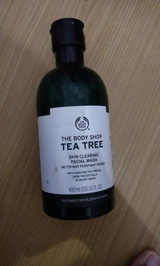 bodyshop tea tree facial wash