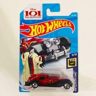 Hotwheels Disney 101 Dalmatians Cruella De Vil
