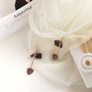 🚚 Dangling Earrings - Whimsical Purple