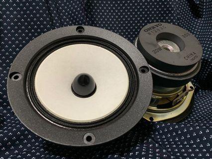 Onkyo中低音喇叭 4.5吋, 20W, 3.5 Ohm,合家用,車用,DIY