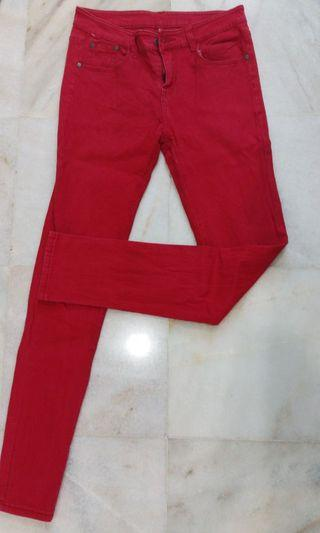 Red Skinny Jeans