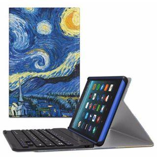 """(E1113) MoKo Keyboard Case for All-New Amazon Fire 7 Tablet - Wireless Keyboard Cover with Auto Wake / Sleep for Fire 7 (7"""" Display, 7th Generation – 2017 Release ONLY), Starry Night"""
