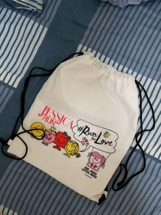 Mr MEN Little MISS 運動索繩背袋  Running Sports Bag 100%NEW with package
