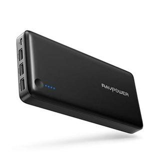 (E1110) Power Bank RAVPower 26800 Portable Charger 26800mAh Total 5.5A Output 3-Ports External Battery Packs (2.4A Input, iSmart 2.0 USB Power Pack) Portable Phone Charger iPhone, iPad Other Smart Devices