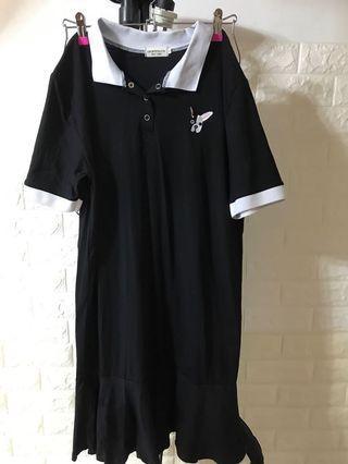 全新黑色修身連身裙 XL 包郵