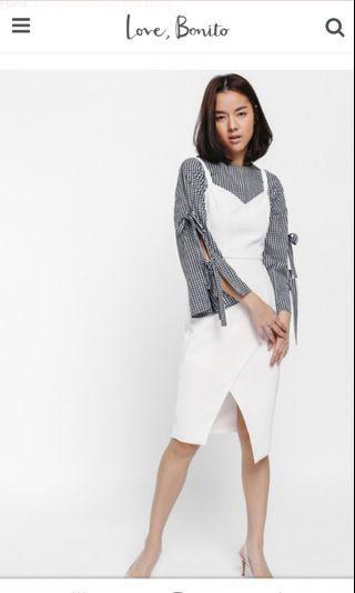 LB Meya Crossover Midi Dress