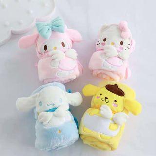 🚚 Melody, Kitty, Cinnamoroll, Pompompurin Plush Blanket