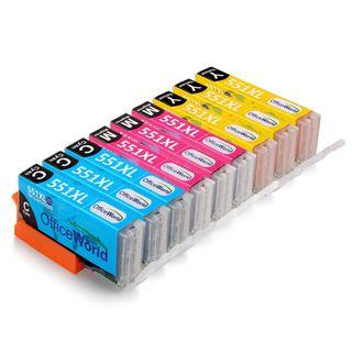 OfficeWorld Replacement for Canon CLI-551 CLI-551XL Ink Cartridges