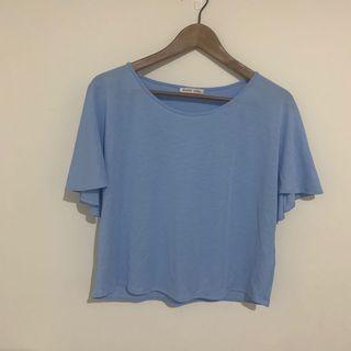 二手-Zara水藍色上衣