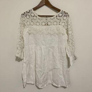 二手-白色洋裝